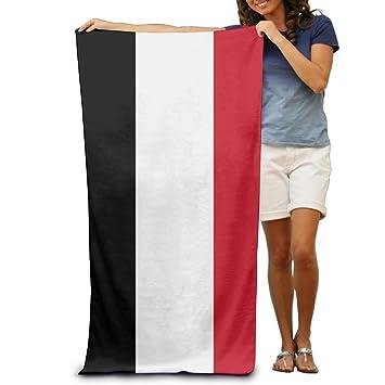 Bandera de Yemen adultos toallas de playa de rápido/secado rápido lavable a máquina ligero