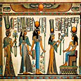 OFILA Antique Egyptian Papyrus and Hieroglyph Backdrop 7x7ft Africa Ancient Civilization Archaeology Art Background Cairo Egyptian Pharaoh Tomb Religion Soul Etemity Totem Photos Video Props