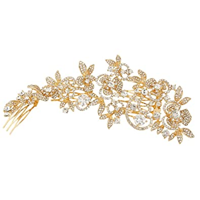 EVER FAITH Women's Austrian Crystal Wedding Flower Cluster Hair Band Clear UHrqqxjmG