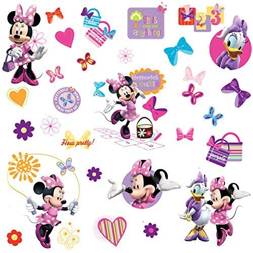 RoomMates Minnie Bow-Tique Peel and Stick Wall Decals ()