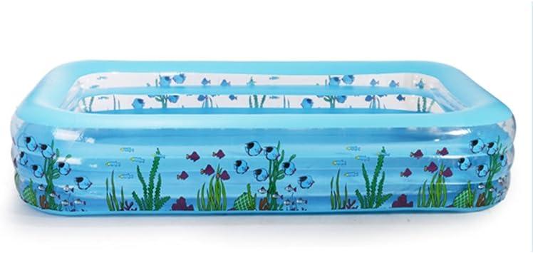 Piscina grande bajo el agua de color azul rectangular para niños ...