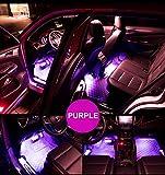XEMZ Car LED Strip Light – 4pcs 36 LED Interior Lights, Auto Decoration LED Tube Light, Under Dash Atmosphere Lighting Kit Neno, Waterproof Multicolor Lamp Bar, Tender for SUV Van Car