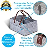 Baby Diaper Caddy Organizer – Nursery Basket with