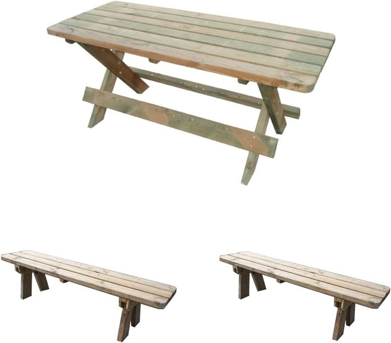 Tavolo Pic Nic In Legno Impregnato Piano 180x70 Patio Garden Furniture Sets Home Garden