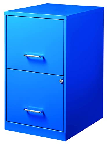 Office Dimensions 18 Deep 2 Drawer Metal File Cabinet, Blue