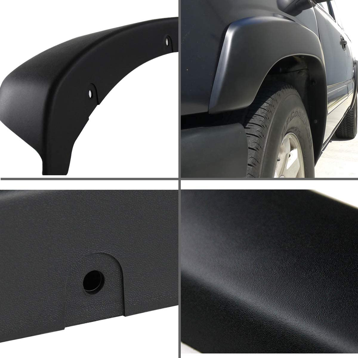 VioletLisa 4pcs Fleetside Fender Flare Easy Install For 1999-2006 Chevrolet Silverado//GMC Sierra 1500//2500//3500 /& 2000-2006 Chevrolet Avalanche//Suburban 1500//2500 /& 2000-2006 GMC Yukon XL 1500//2500