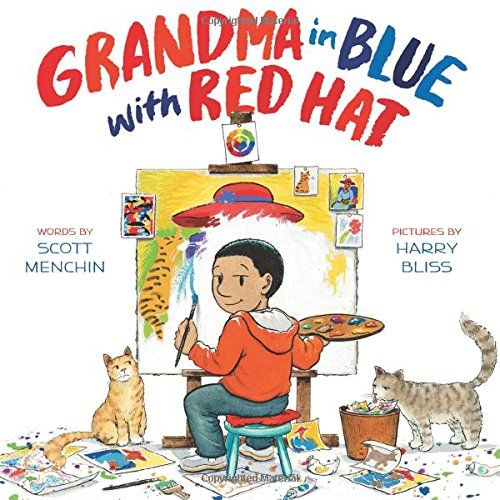 Blue Hat Hat Red (Grandma in Blue with Red Hat)