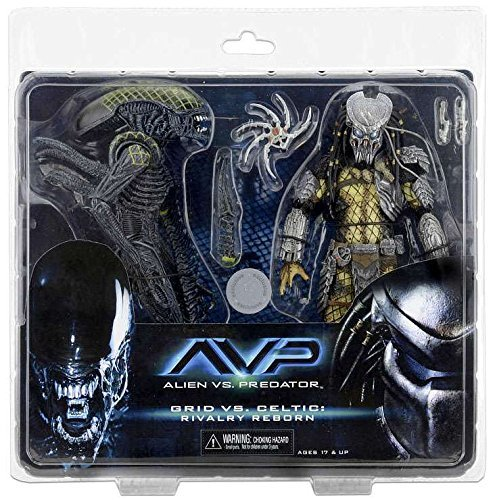 Celtic Predator Mask (NECA Aliens vs. Predator AvP Celtic Predator & Battle Damaged Grid Alien