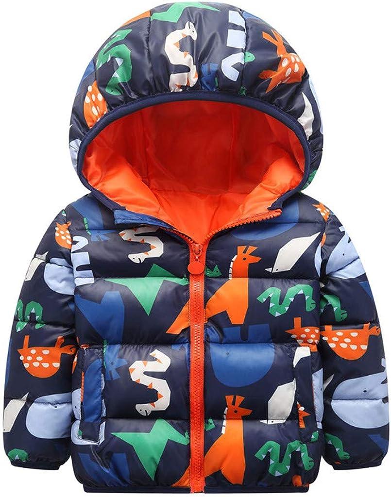 Arystk Baby Girl Boy Coat Hooded Long Sleeve Toddler Kid Cartoon Animal Jacket Outwear Warm Outfits