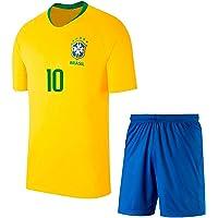 Amf Yellow Brazil Football Jersey for Mens & Kids