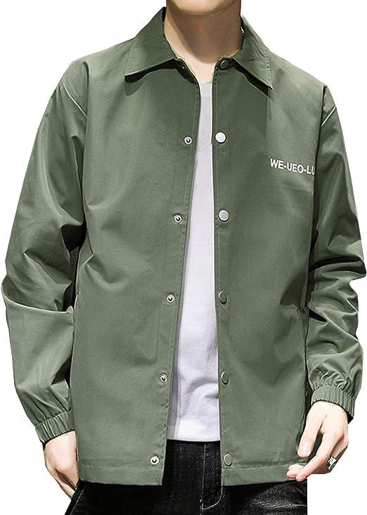 [スカイシイ] 3カラー コーチジャケット ジャケット シンプル 薄手 ポケット ロゴ 羽織 長袖 メンズ S~2XL