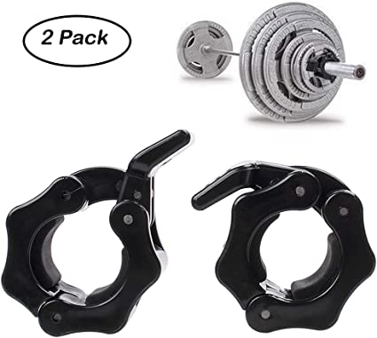 Greententljs 2 Inch Barbell Clamps Quick Release Pair of Locking 2 Inch Pro ABS Locking Olympic Size Workout Professional Barbell Secure Snap Latch for Squat Weightlifting//Powerlifting