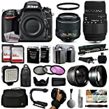 Nikon D750 DSLR Digital Camera with 18-55mm VR II + Sigma 70-300mm Lens + 128GB Memory + 2 Batteries + Charger + LED Video Light + Backpack + Case + Filters + Auxiliary Lenses + $50 Gift Card + More!