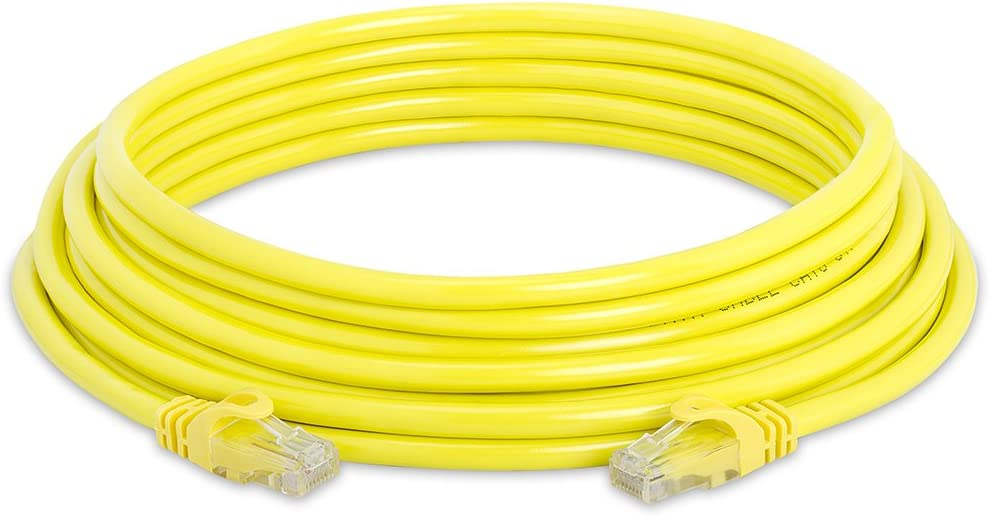 550MHz Cat6 Network Ethernet LAN Cable Supports Cat6 Cmple Cat6 Ethernet Cable 10Gbps Cat5 Standards Cat5e Computer Networking Cord with Gold-Plated RJ45 Connectors 7 Feet Blue