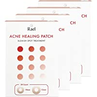 Rael Hydrocolloid Acne Pimple Healing Patch 4 Packs (Invisible, 96 count)