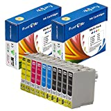 PrintOxe™ Compatible 10 Ink Cartridges E- 126 (4 Black T1261 , 2 Cyan T1262 , 2 Magenta T1263 , 2 Yellow T1264 ) T126 for Stylus NX330 /430, Workforce 520 / 60 / 435 / 545 / 630 / 633 / 635 / 645 / 840 / 845 / WF-3520 / WF-3540 / WF-7010 / WF-7510 / WF-7520 Exclusively sold by PanContinent