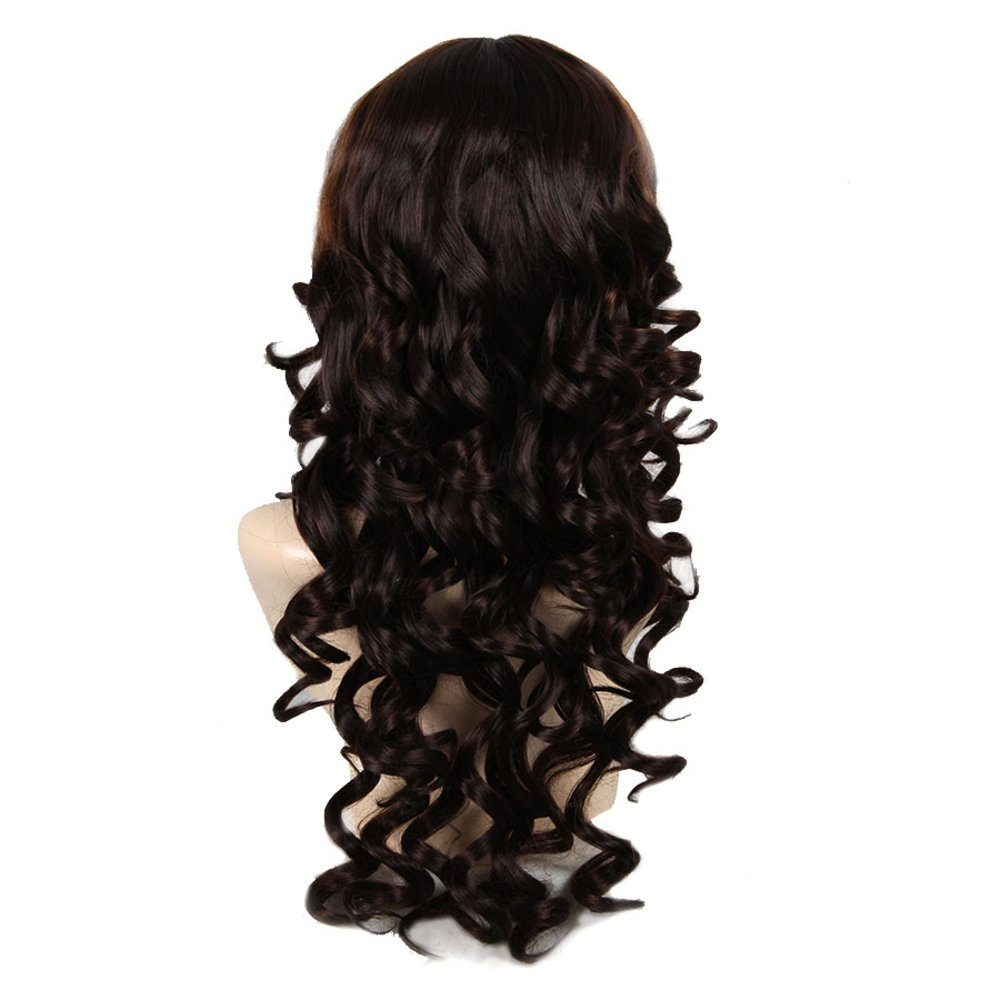 African American sintético pelucas para mujeres modernas pastel marron largo ondulado peluca afro: Amazon.es: Salud y cuidado personal