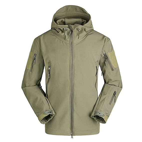 8434f058f274 Mens Sports Outwear Shark Skin Soft Shell V4 Outdoors Military Tactical  Jacket Waterproof Windproof Coat Hunt Camouflage Army Clothing   Amazon.co.uk  ...