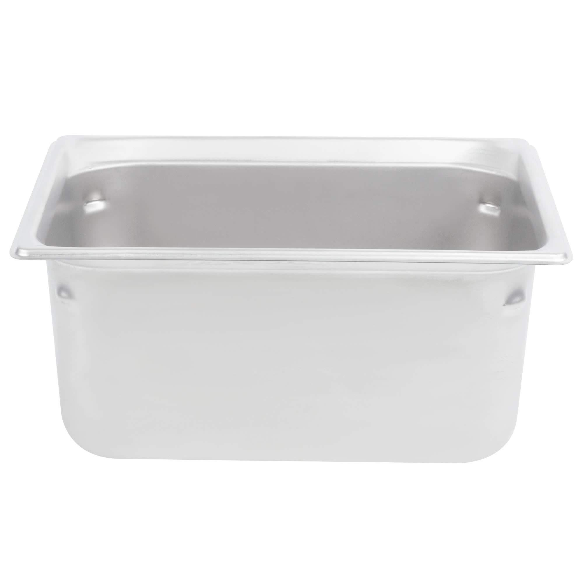 TableTop King 90262 Super Pan 3 1/2 Size Anti-Jam Stainless Steel Steam Table/Hotel Pan - 6'' Deep by TableTop King