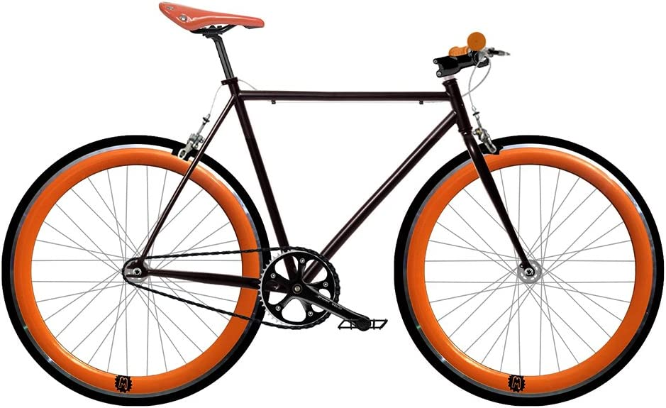 Mowhel Bicicleta Fix 2 Naranja. Monomarcha Fixie/Single Speed ...