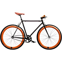 Bicicleta FIX 2 naranja. Monomarcha fixie / single speed. Talla 56