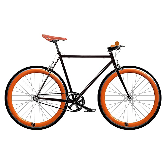 Bicicleta FIX 2 naranja. Monomarcha fixie / single speed. Talla 53 ...