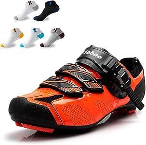 XFQ Unisex Ciclismo Zapatos, Zapatos Carretera Bicicleta De ...
