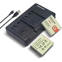 Newmowa NP-BG1 Battery (2 Pack) and Dual USB Charger Kit for Sony NP-BG1 and Sony Cyber-Shot DSC-H7,DSC-H9,DSC-H10,DSC-H20,DSC-H50,DSC-H55,DSC-H70,DSC-H90,DSC-HX5V,DSC-HX9V,DSC-HX10V
