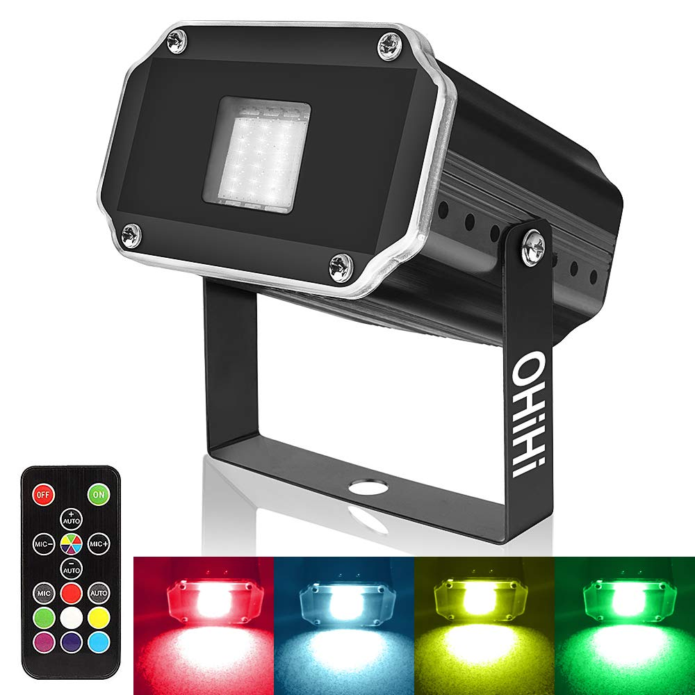 Super Bright Strobe Lights, OHiHi Sound Activated Mini 20W LED Strobe Light, Remote Control Flash Stage Lighting, Best for DJ Xmas Halloween Club Bar Show Party by OHiHi