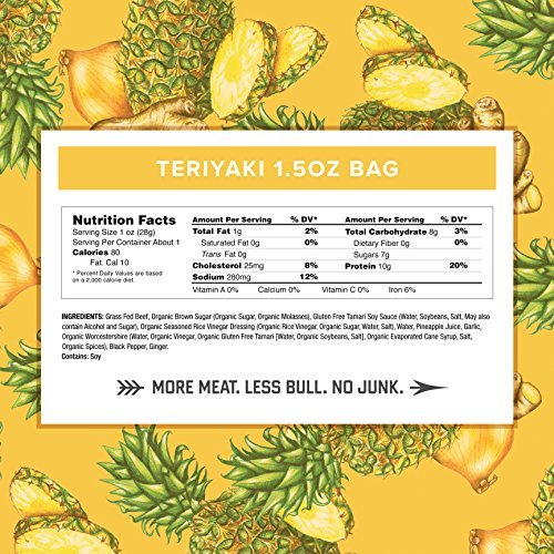 Country Archer 100% Grass-Fed Gluten Free Jerky, Beef + Turkey Jerky Variety Pack (Original/Hickory Smoke/Teriyaki), 1.5 Ounce (Pack of 12)