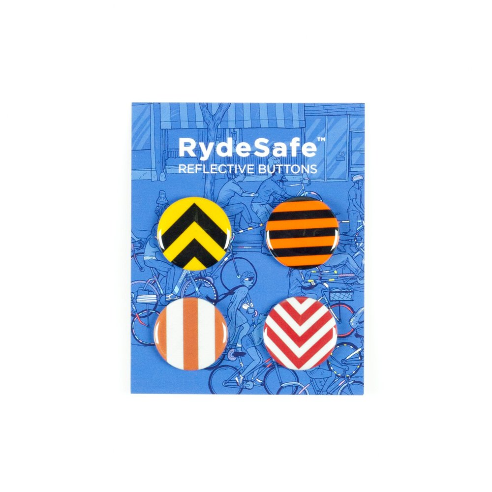 RydeSafe Reflective Buttons - Road Signs - 4 Pack