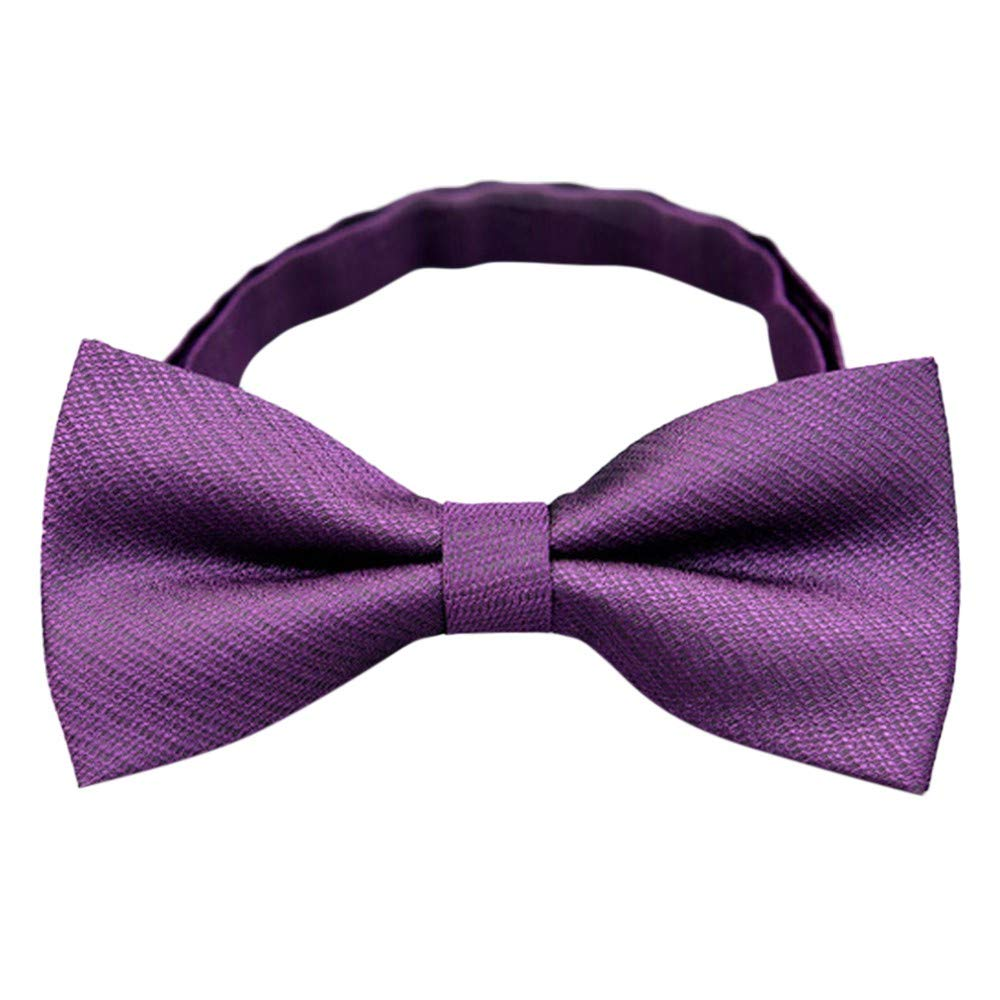 NRUTUP Mens Bow Tie Neck Clip-on Solid Color Fancy Dress Wedding Pre Tied Adjustable Hot Sales(F,Free Size)