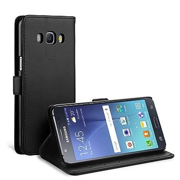 Simpeak Funda Compatible Samsung Galaxy J5 2016 (5.2 Pulgadas), Carcasas Samsung J5 2016 Funda Cuero Samsung J5 2016 Soporte Plegable,Ranuras para ...