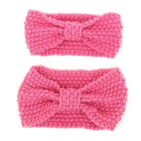 Ikulilky 2pc Mutter Und Baby Mädchen Kleinkind Stricken Stirnband