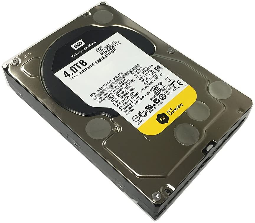 Western Digital WD4000FYYZ ENTERPRISE 4TB 7200RPM 64MB Cache SATA 6.0Gb/s 3.5 internal hard drive
