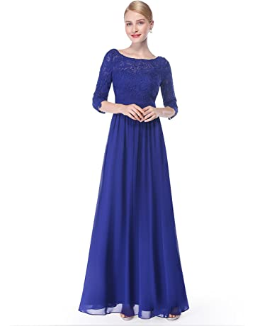 f2f829ea6b51 Ever-Pretty Women s Lace Long Sleeve Floor Length Evening Dress 08412