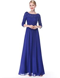3a6e5bc8a833 Ever-Pretty Women s Lace Long Sleeve Floor Length Evening Gown 08861 ...