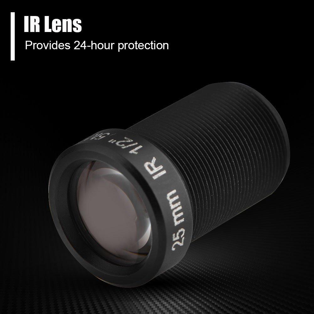 Zerone 5 MP 25 mm F2.0 M12 x 0,5 mm Objectif de s/écurit/é pour cam/éra de vid/éosurveillance HD