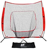 Baseball and Softball Net - 7X7 - Strike Zone - Ideal for Practicing, Hitting, Pitching, Batting, Catching and Fielding - Perfect for All Skill Levels - by Utopia Fitness