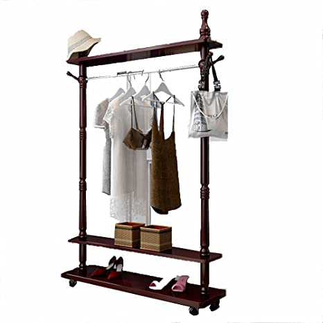 Amazon.com: Colgador de madera maciza para dormitorio o ...