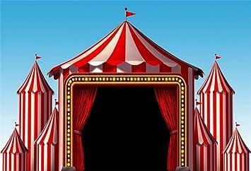 BuEnn 9x6ft Circus Photo Telón de Fondo Carpa roja Carnaval ...
