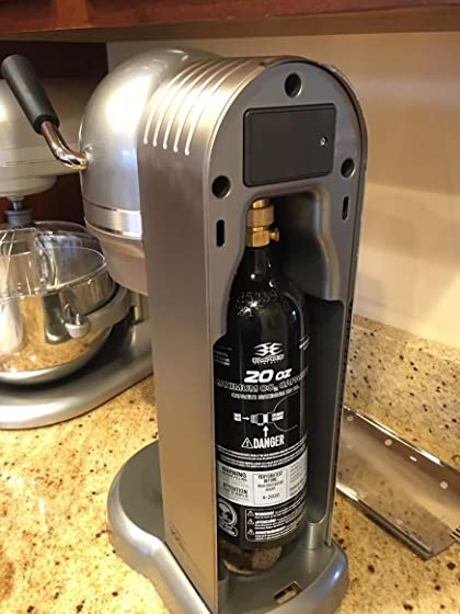 Aluminum CO2 Paintball Tank Fits my Kitchenaid Sodastream perfectly (with adapter)