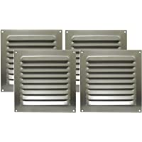 Grade de ventilação em alumínio quadrada com tela 20 x 20 cm - ITC