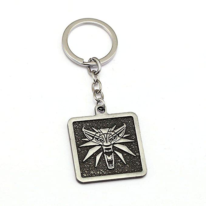 Amazon.com: AEmber - Witcher 3 necklace keychain Medallion ...