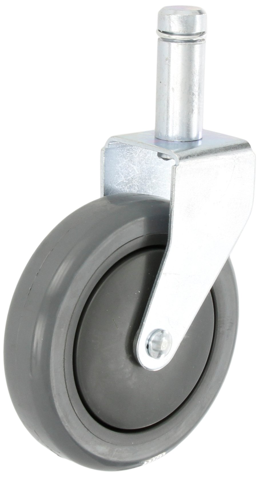 Quantum Storage Systems WR-RG 1-1/4'' Diameter Polyurethane Wheel One Rigid Stem Caster, 300 lbs Capacity
