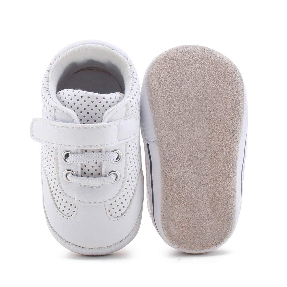 DELEBAO Scarpe Bambino in Morbida Pelle Baby Scarpe per Primi Passi Scarpette Neonato Scarpe Bambina Ragazza Ragazzo