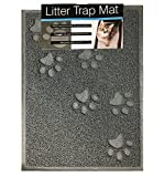 bulk buys Quality Gray Cat Litter Trap Mat - Non-Slip Backing - Dirt Catcher - Soft on Paws - Easy to Clean