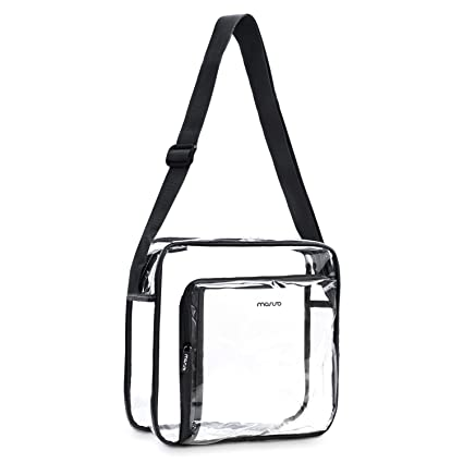 2032f981d3 MOSISO Clear Crossbody Bag TSA NFL NCAA Stadium Approved Transparent  Waterproof Zippered Shoulder Messenger Satchel for Men Women