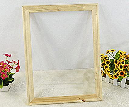 Amazon.com: YEESAM ART DIY Solid Wooden Frame (4 Sticks a Set) for ...