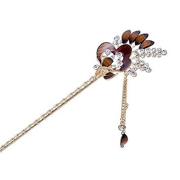 Amazon Retro Classical Peacock Oil Drop Tassel Hair Sticks